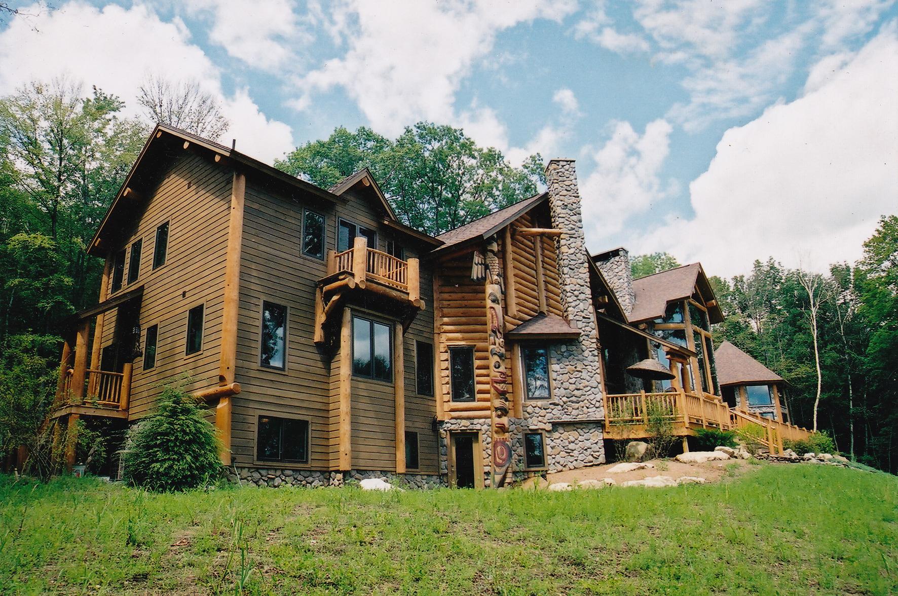 Handcrafted Log Homes Northern Lights Log Homes New England