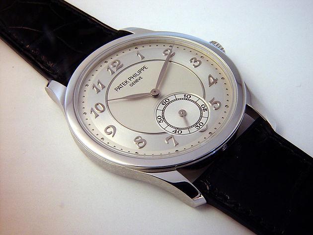 Review Patek Philippe Calatrava Platinum Silver Mens Watch 5196p