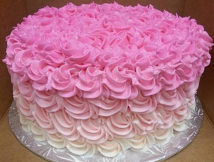 Rosette Celebration Cake
