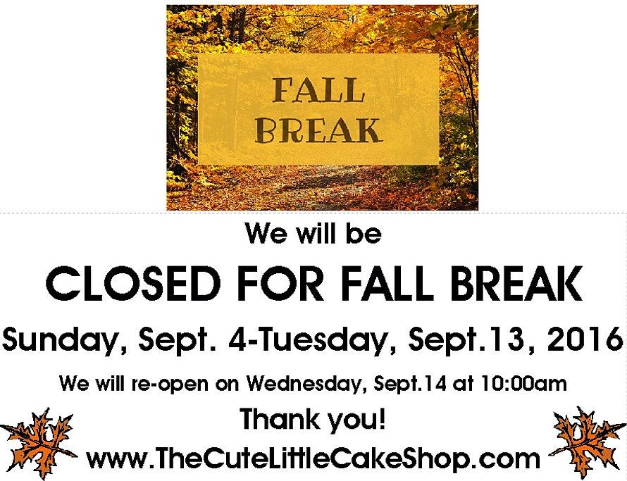 Fall Break 2016