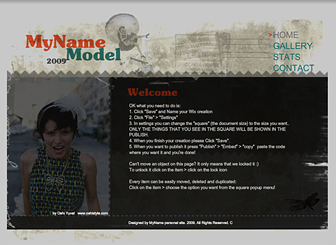 Nu Model Template - A friendly and sophisticated Website design, this template is perfect for those who need to promote a portfolio on the web.