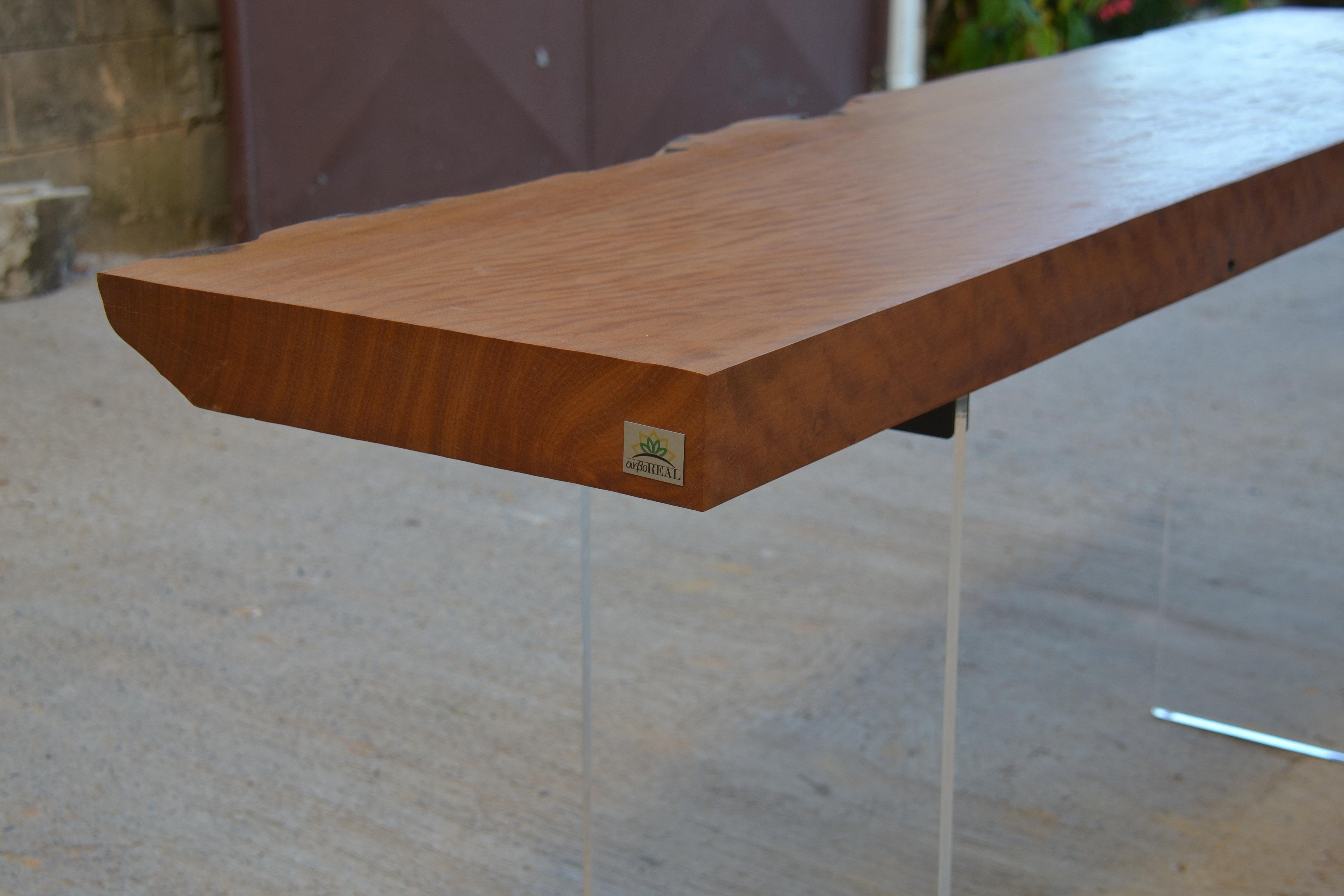Artesanato Em Geral Mr ~ Arboreal Móveis Móveis Rústicos de Madeira Maciça Mesa Rústica Aparador com pés de acrílico