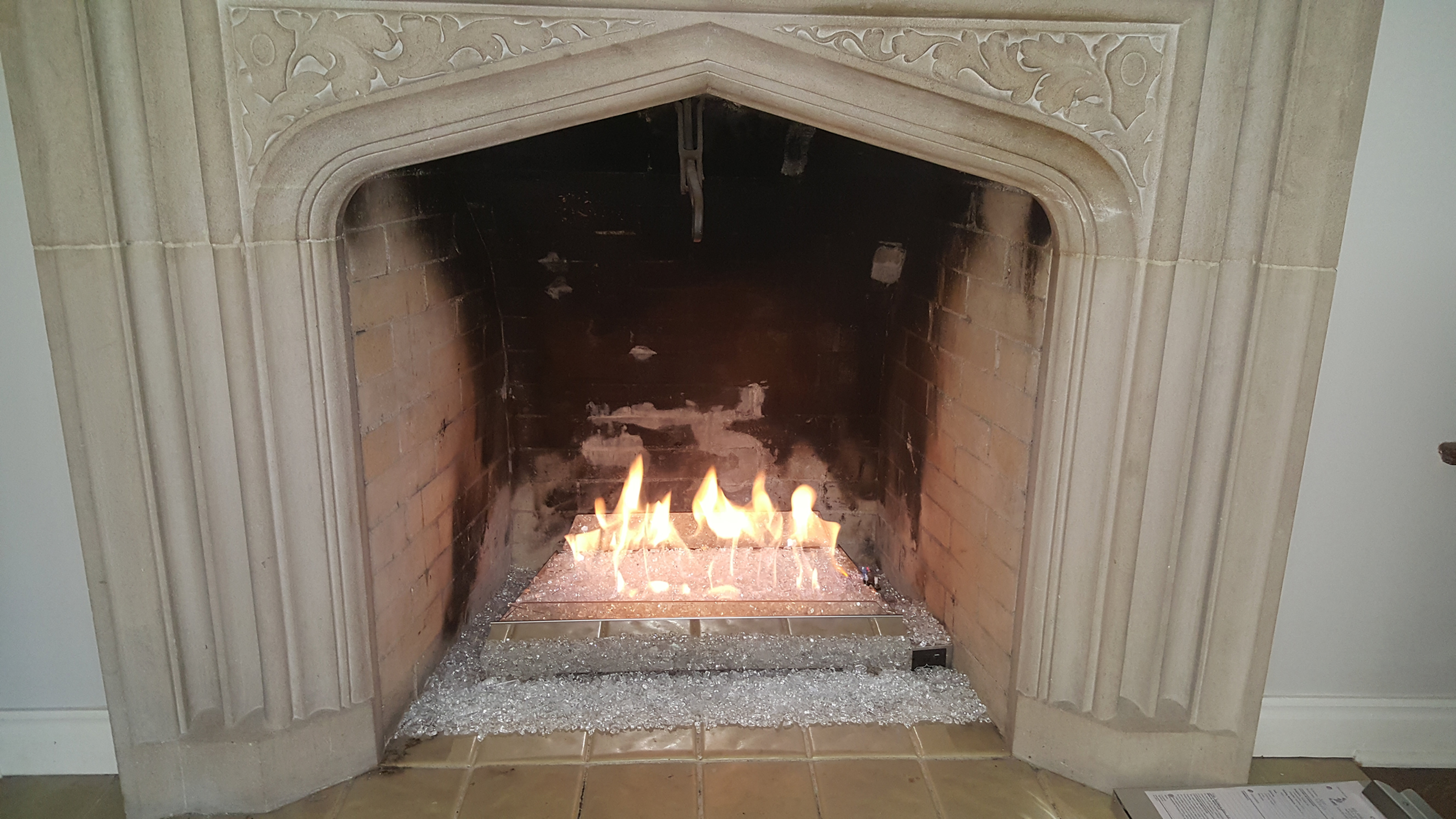 Ely Stokes Chimney Sweep Chimney Repair Fireplace  Masonry - Fireplace door glass replacement