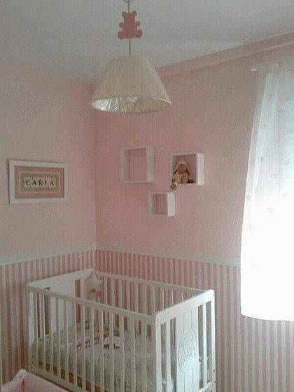Dormitorios con papel pintado a rayas images - Dormitorios pintados a rayas ...