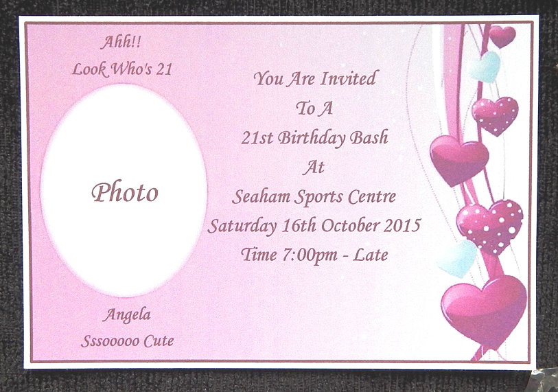 SpecialnPersonal Invitations Word Art Business Stationery - 21st birthday invitation card background