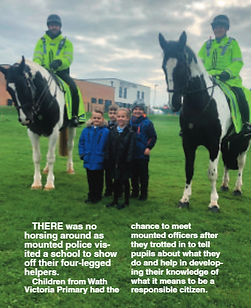Wath Victora mounted police