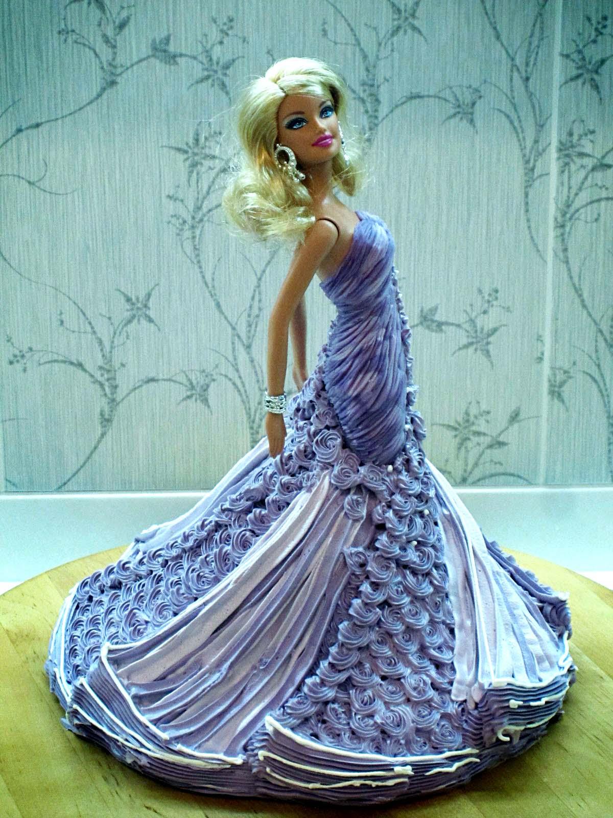 Торт кукла Барби из крема: мастер-класс торта Принцесса