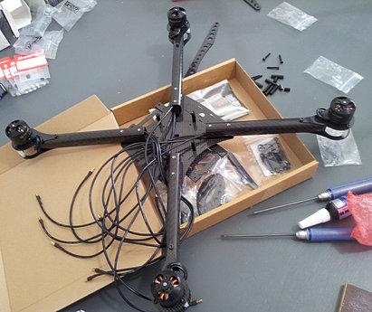 drone, riparazione, tecnico, costruzione