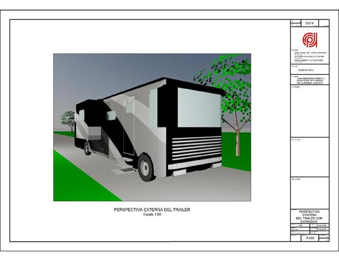 Diseño vivienda móvil.