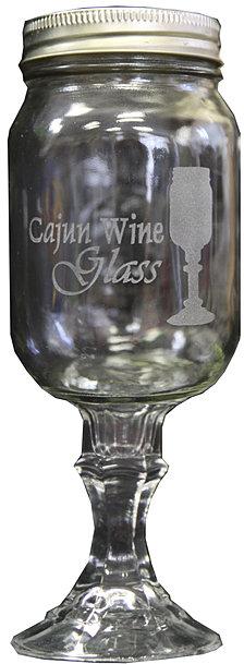The cajun wine glass - Stemmed mason jars ...