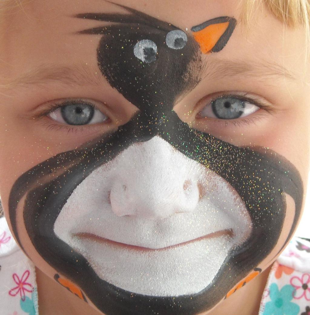 Penguin Face Makeup Penguin Face Painting