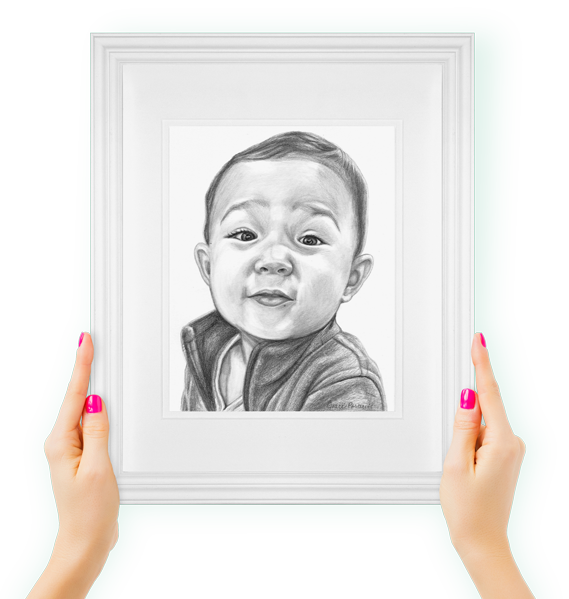 Cute kid drawing