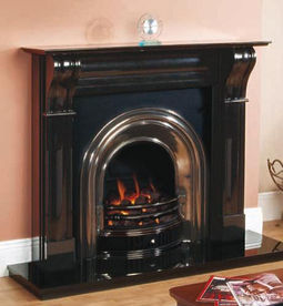 Black Granite Fireplaces at Spratt Fireplaces & Stove Centre, Donegal