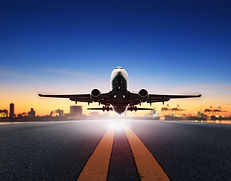 cargo plane take off from airport runway