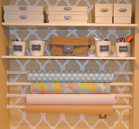 Neat Little Nest: Cute & Organized Wrapping Paper Station