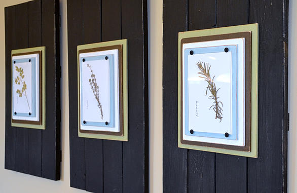 Neat Little Nest: DIY Herb Art
