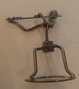 Flute Player Figurine