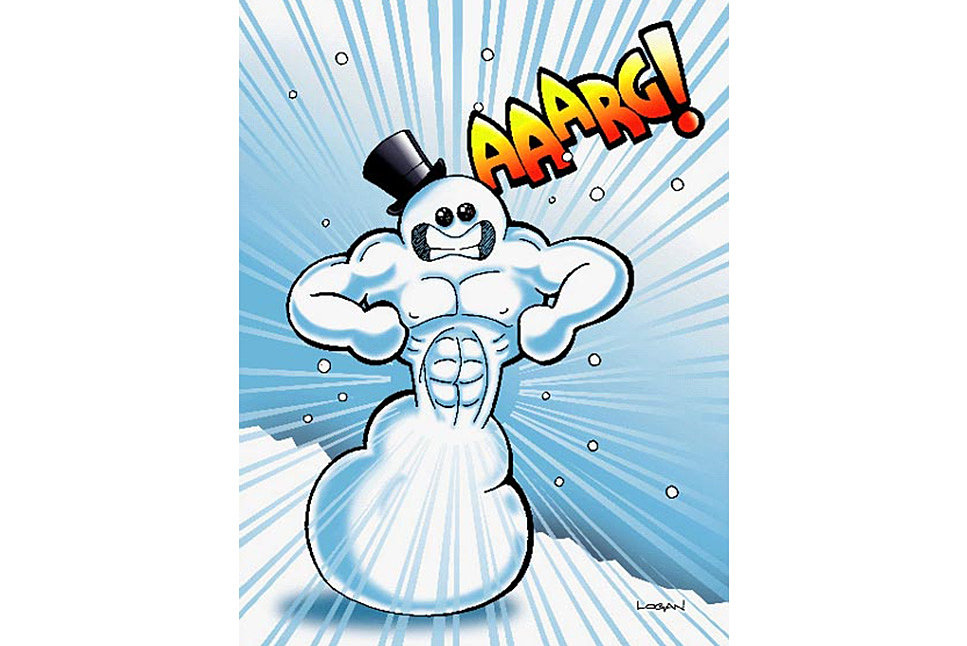 Snowman Now Has Massive Abs