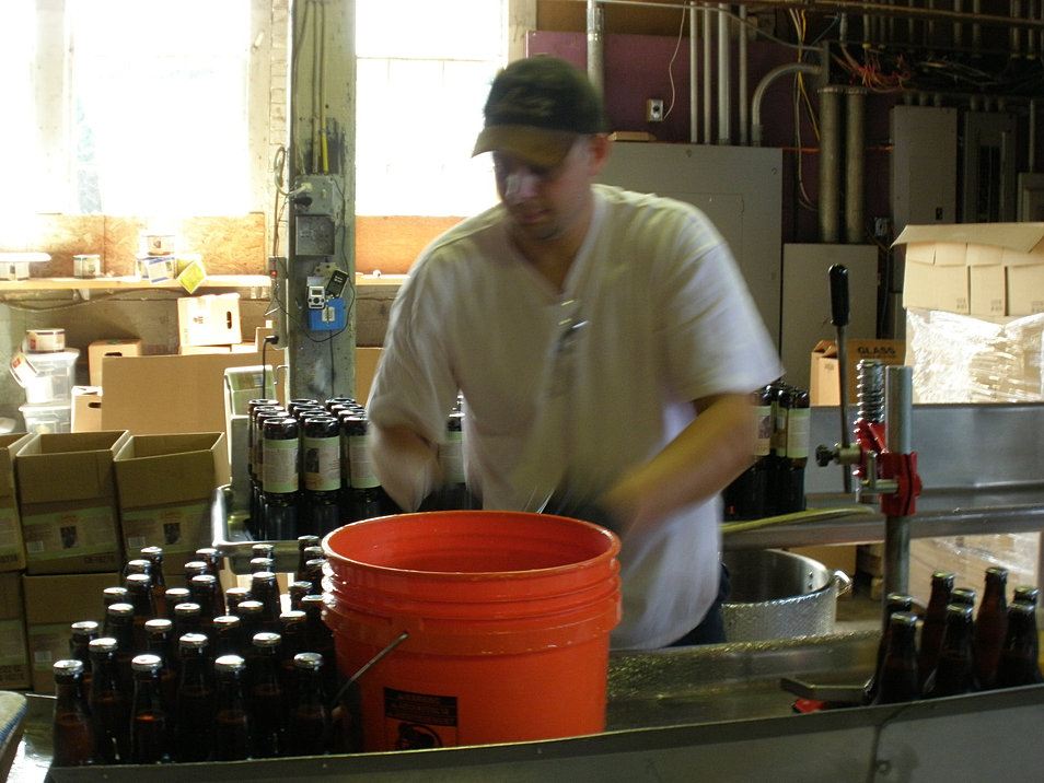 Working the Bottling Line