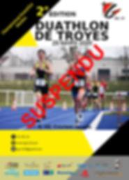Affiche 2020 Duathlon de Troyes Suspendu