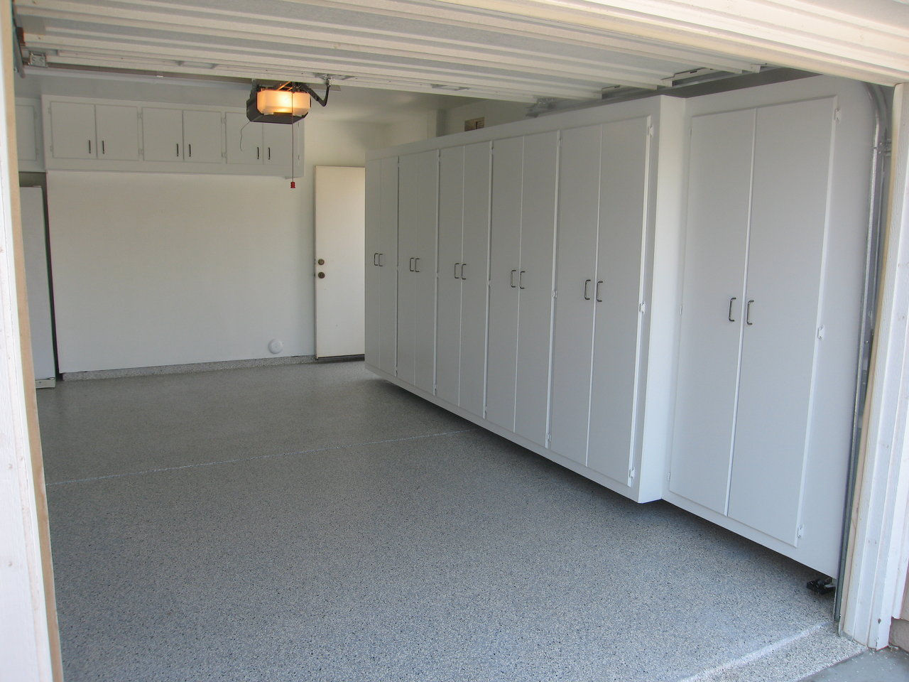 Garage cabinets and epoxy floor coatings california for Garage cabinets