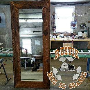 Nos r alisations rustik bois de grange for Miroir bois de grange