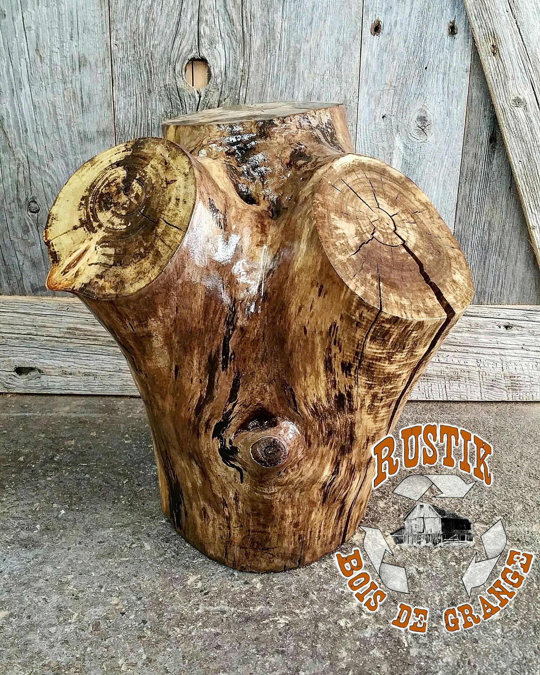 Rustik bois de grange ! Qualité et service a touteépreuve B u00fbche décorative # Buche De Bois Décorative