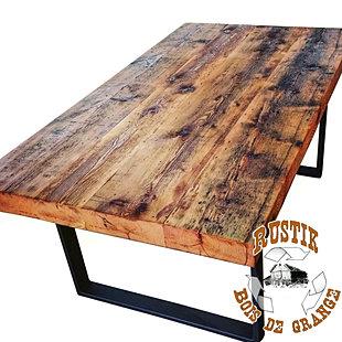 Tables bars comptoirs et lots - Construire une table en bois ...
