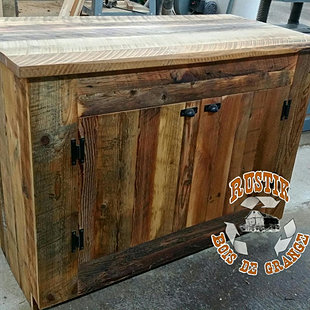Nos r alisations rustik bois de grange for Meuble avec bois de grange