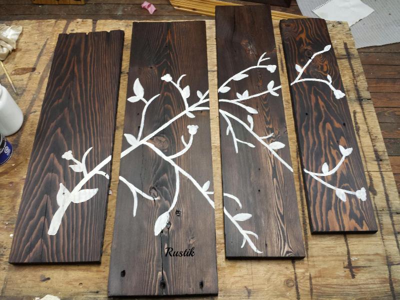Rustik bois de grange mobiliers en bois massif haut de for Decoration murale haut de gamme