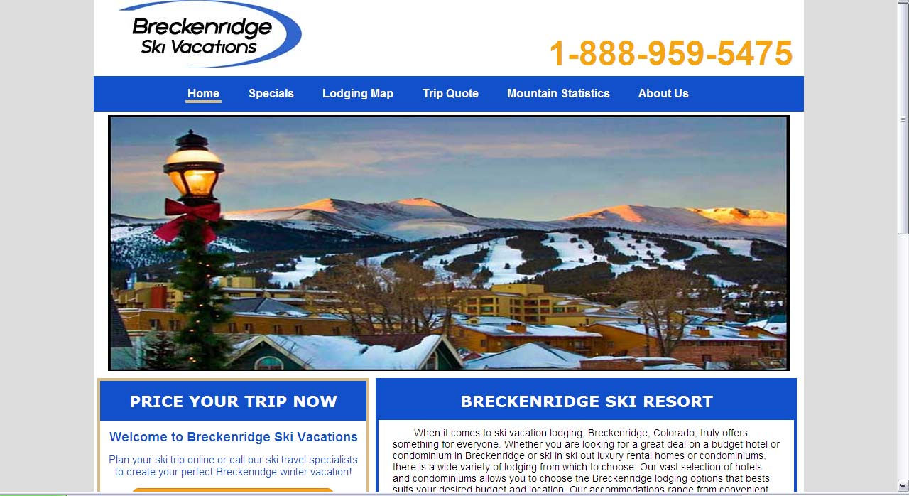 Breceknridge Ski Vacations