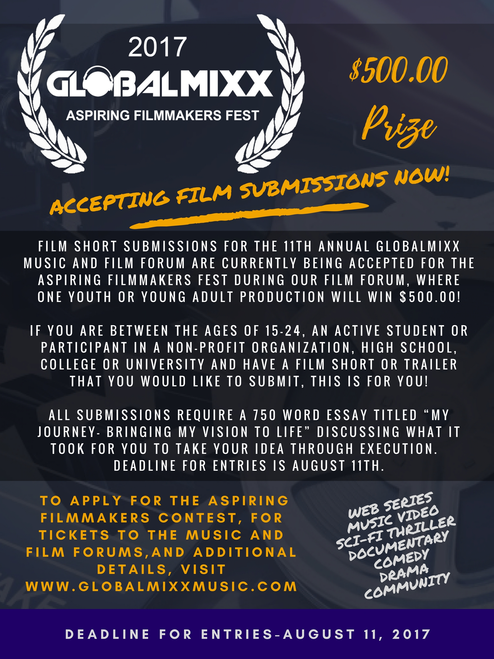 2017 global mixx film forum submission rules | global mixx media group