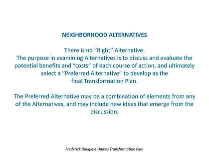 Alternatives Slide Show for comm mtg 120