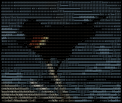 image from wikipedia : Ascii Art