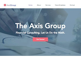 Finance Consulting Template - This pragmatic and professional template includes all the features you need to kickstart an online presence. Showcase your team, your services and your clients, and easily maintain a blog to keep your visitors engaged with relevant and helpful information . Connect your social media accounts to attract new followers, and hook new potential clients!
