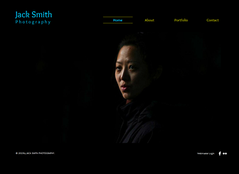 Photographer Template - A bold and minimal website template perfect for designers, visual artists, and photographers. Upload images to create an elegant gallery of your creative projects.