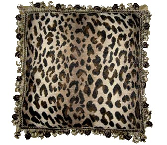 Animal Print Needlepoint Pillows : Leopard Print Needlepoint Pillow humble-haute
