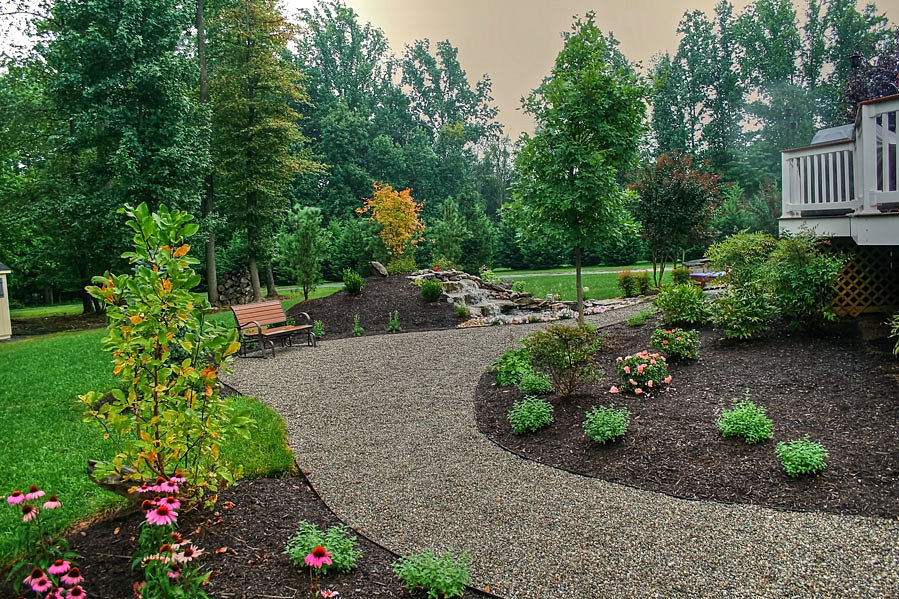 Pea Gravel Landscaping Ideas :  Landscaping of Brookville Maryland  Delaware Pea Gravel patio