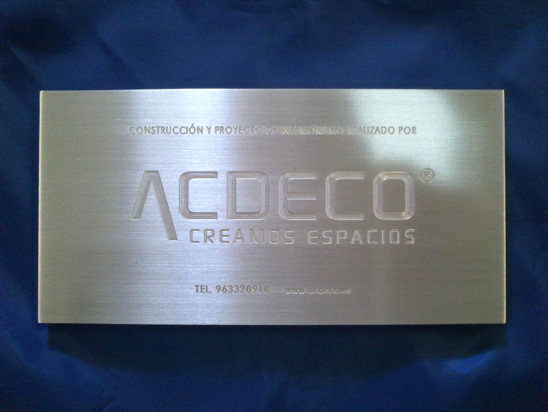 Fabricaci n de placas grabadas en todos los materiales y - Placas de aluminio ...