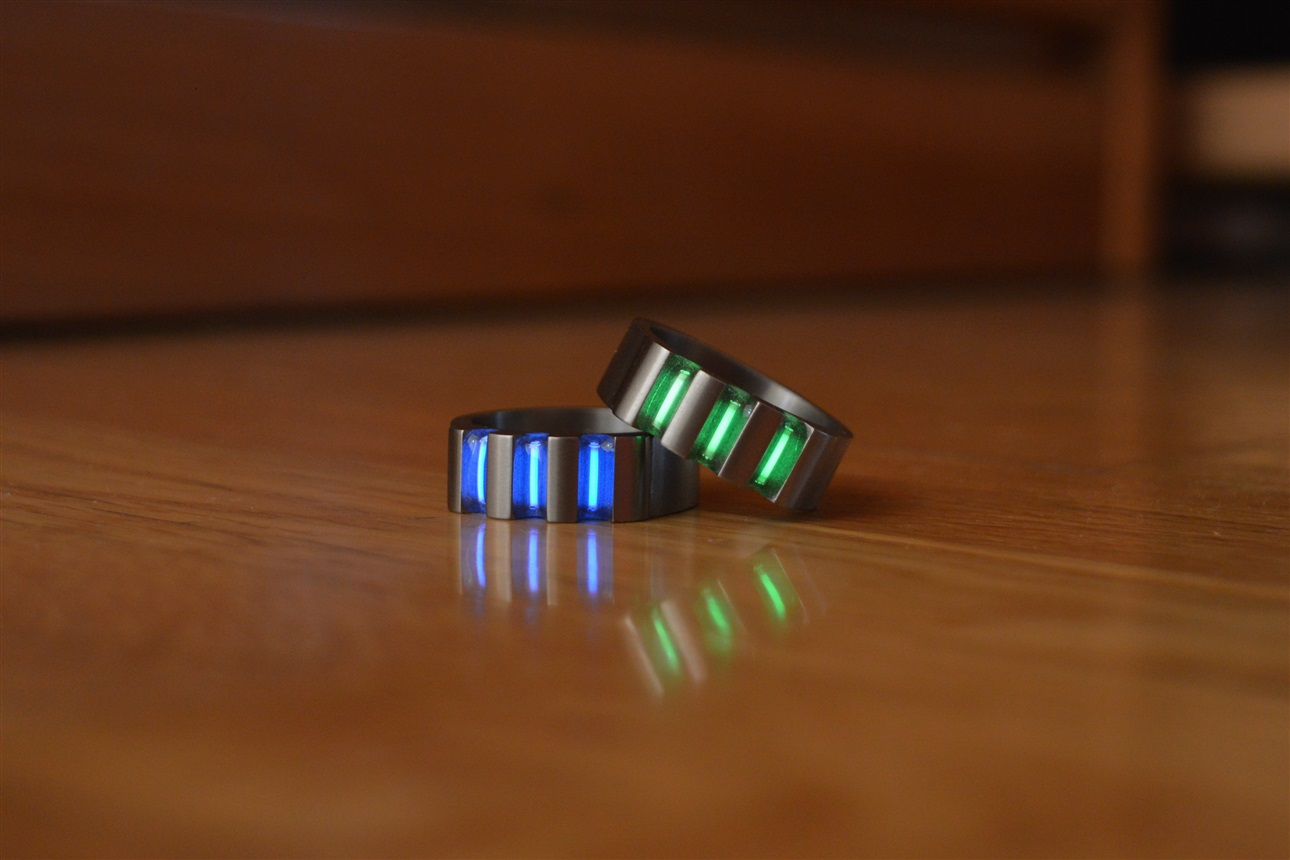 by innovo design Tritium rings jewellery and gadgets RINGS