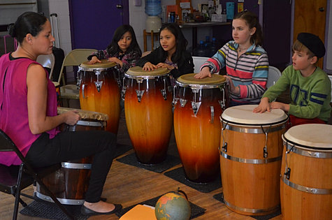 Kids Learning Drumming