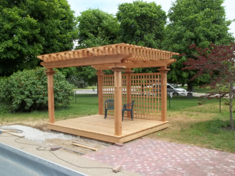 Sawn Timber Pergola ~ Custom deck and pergola builder serving greenwood