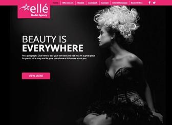 Agencia de modelos Template - Esta plantilla web audazmente chic es ideal para aquellos en la industria de la moda. Sube fotos para destacar a tu marca y personaliza la galería para crear un catálogo que captará miradas. ¡Personaliza el diseño y contenido para crear una web que marque tendencia!