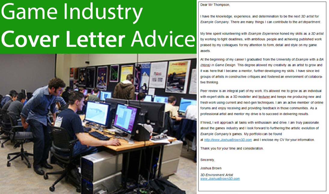 game industry cover letter game industry cover