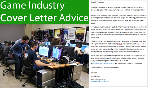 How to Write a Good Cover Letter for a Game Industry Job | Joshua ...
