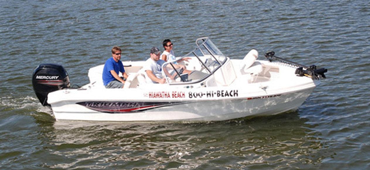 Fishing houseboat rentals on leech lake mn hiawatha for Fishing boat rental mn