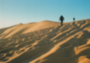 Sand dunes at Ghadames - border of Libya, Algeria, and Tunisia.