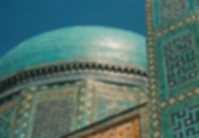 Shah-i-Zinda in Samarkand, a necropolis of mausoleums dating from the 14th & 15th century
