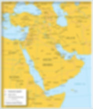 Map of Western Asia and the Middle East.