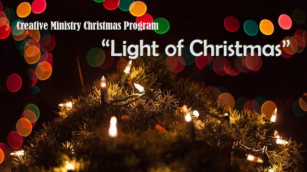 Creative Ministry Christmas Program